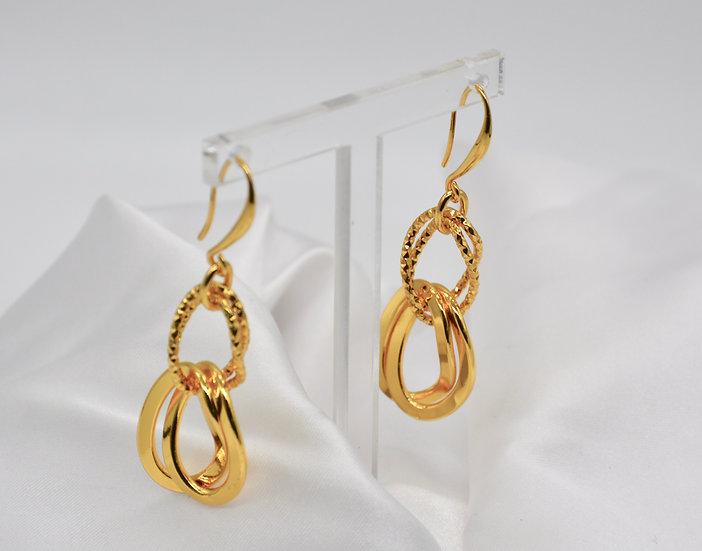 Brass Gemella GD Gold Orecchini
