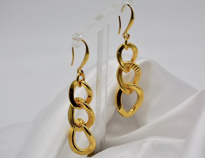 Brass Grumetta Raggiata Gold Orecchini