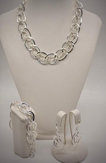 Brass Gemella bugnata Silver