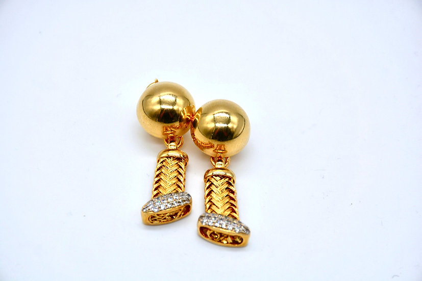 Brass Cordoncino orecchini
