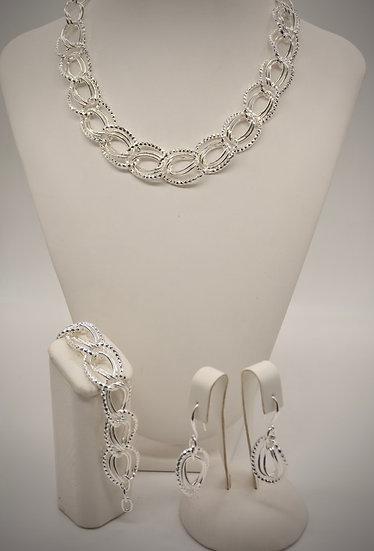 Brass Diamantata ovale Silver