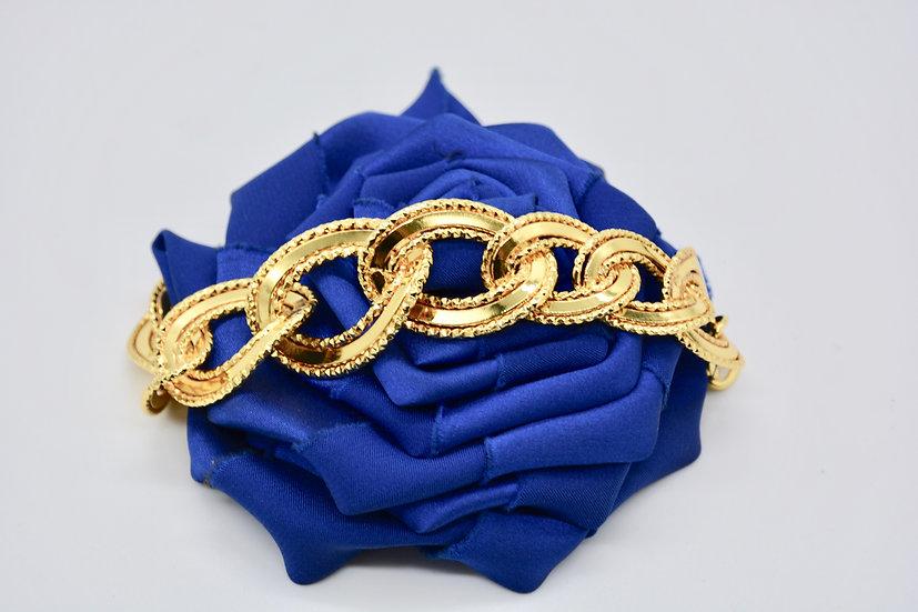 Brass Specchio godronato gold bracciale