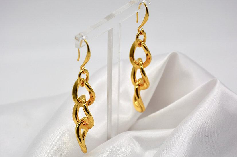 Brass Grumetta a scalare Gold Orecchini