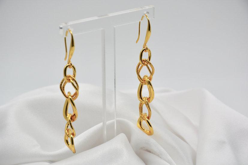 Brass Fantasia alternata Gold Orecchini