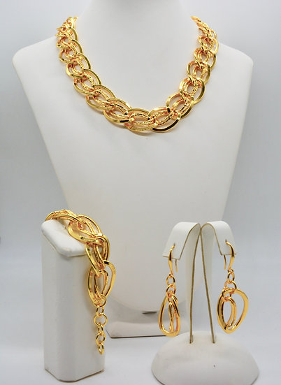Brass Gemella bugnata Gold