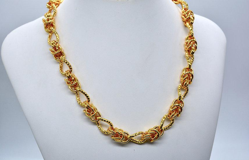 Brass Bizantina alternata Gold Collana