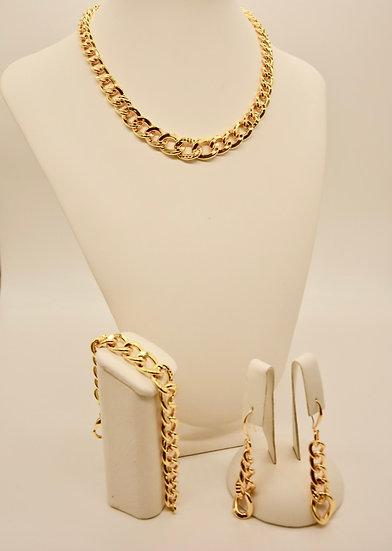 Brass Grumetta quadrettata Gold