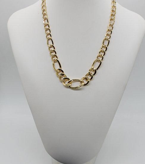 ARGENTO 925 Gold alternata a scalare collana