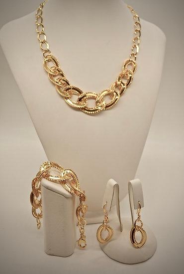 Brass Specchio godronato Gold