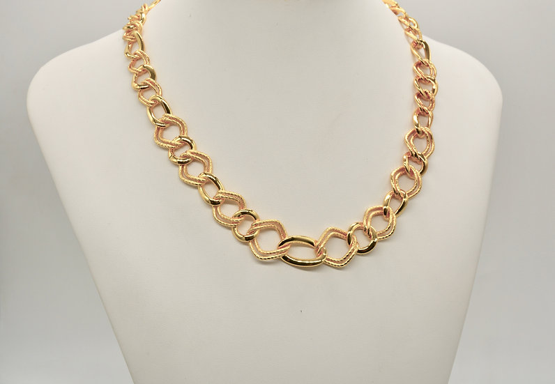 Brass Fantasia alternata gold Collana