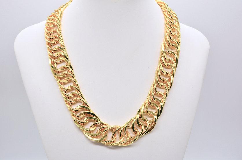 Brass Tripla Girata Gold Collana
