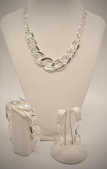 Brass Specchio godronato Silver