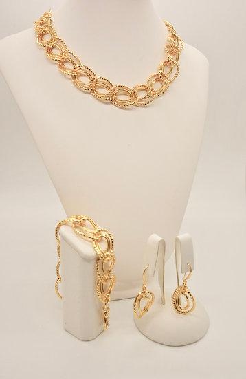 Brass Diamantata ovale Gold