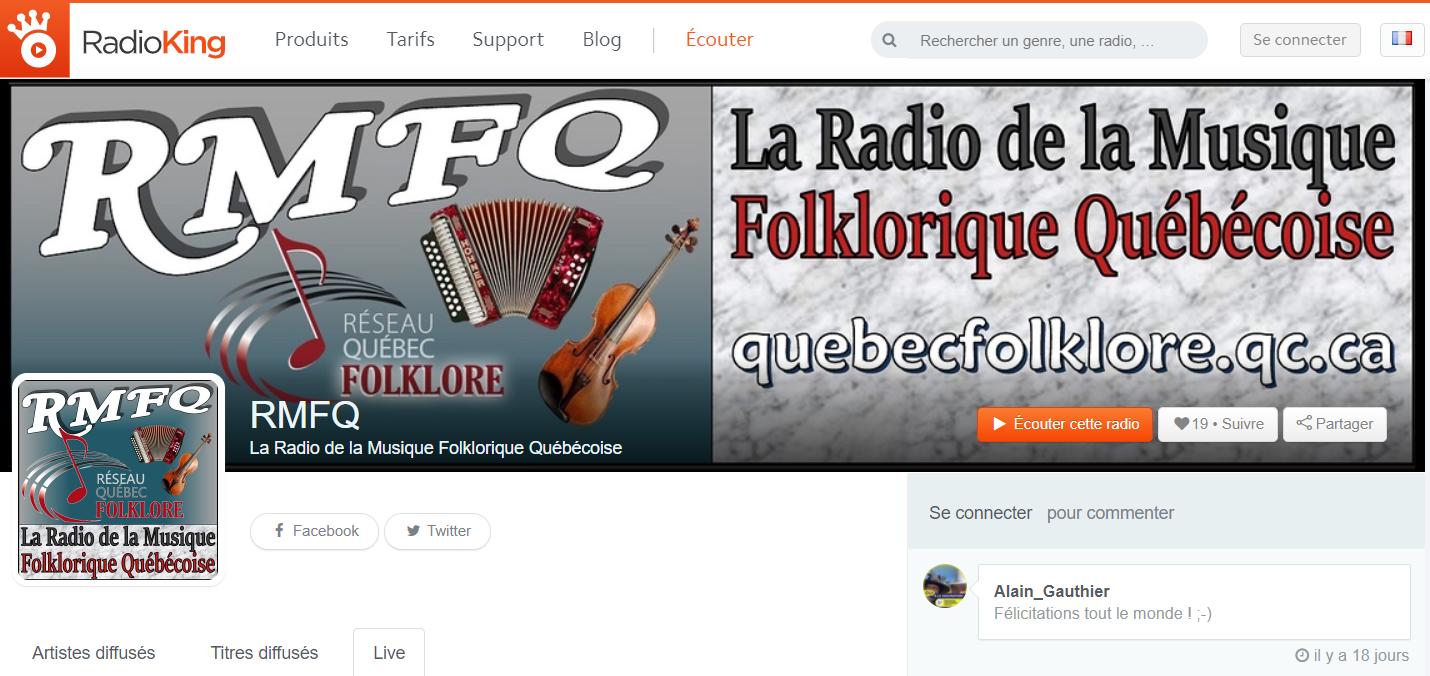 Radio de la musique folklorique québécoi
