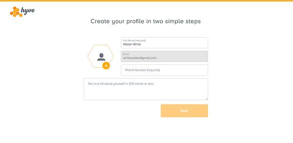 hyveapp profile