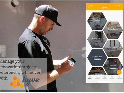 Organize and Track the Products and Materials in your Remodel or New Home Build Project with a Mobil