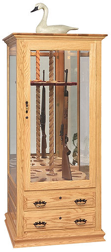 Genuine Oak gun cab blond with glass and