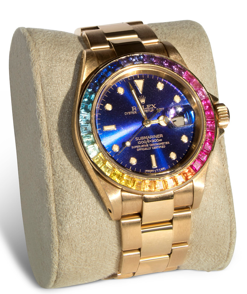 Rainbow Sapphire Watch Bezel