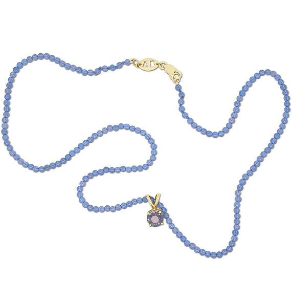 BLUE CHALCEDONY STONE NECKLACE