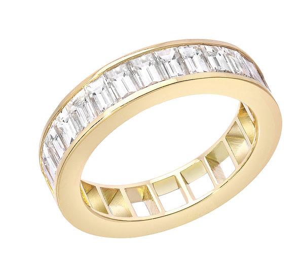 50/50 RING - DIAMOND, OPEN