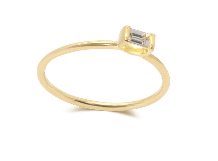 MINI CRADLE RING, DIAMOND
