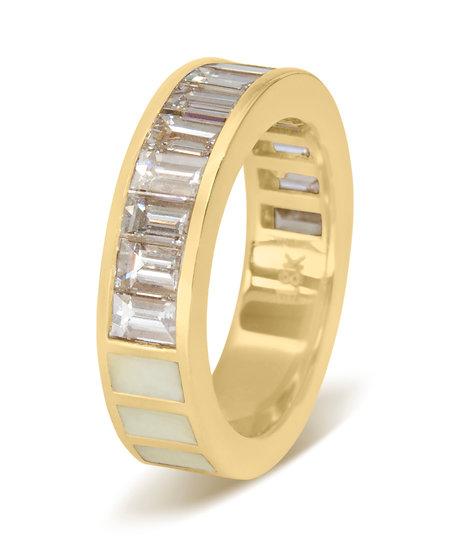 50/50 RING - DIAMOND, ENAMEL
