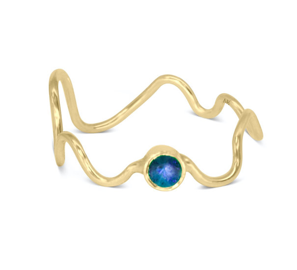 SQUIGGLE RING, BABY, SAPPHIRE