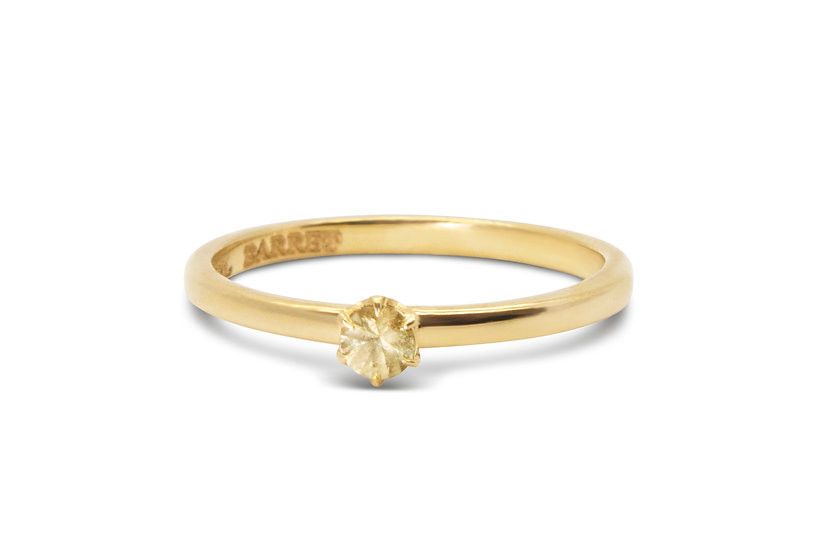 DOT SINGLE RING, YELLOW SAPPHIRE
