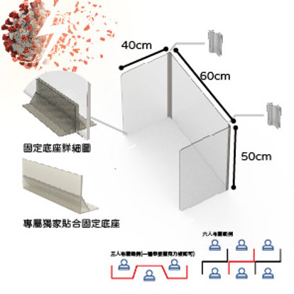 光觸媒抗菌透明防疫隔板