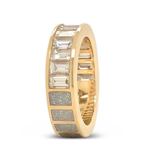 50/50 RING - DIAMOND, GLITTER ENAMEL