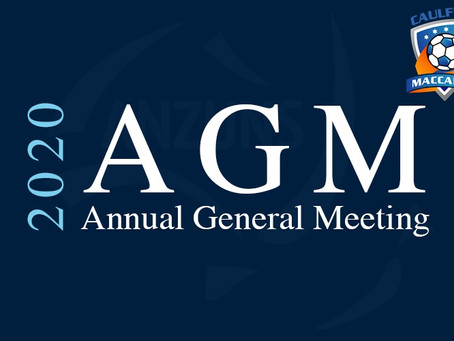 AGM Sunday 18 Oct 2020