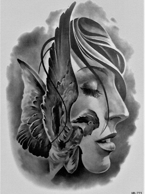 Gesicht und Engel