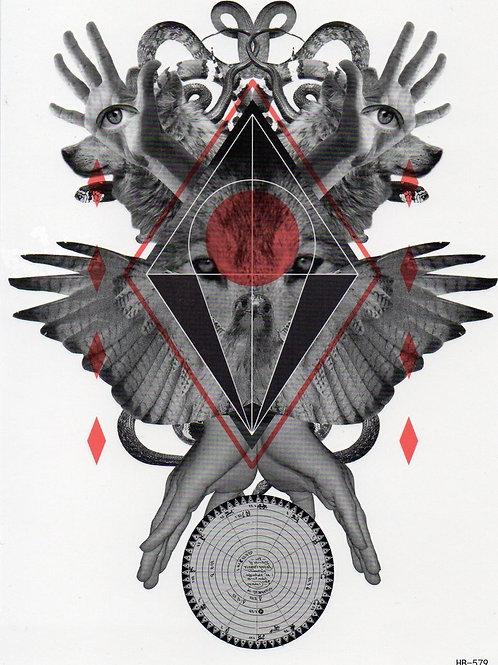 Hände Flügel Mosaik