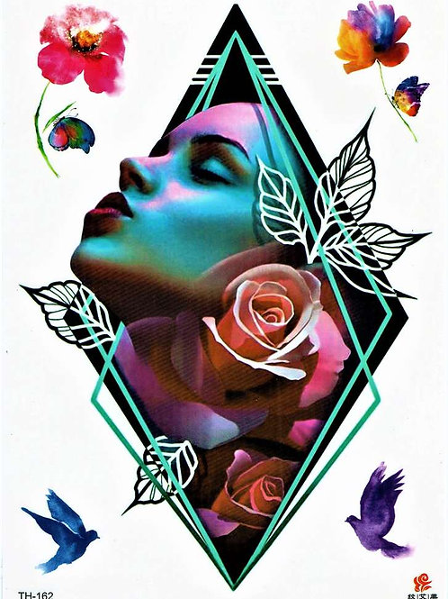 Frau rose, Dreieck