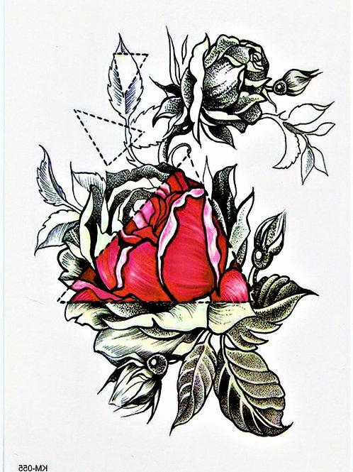 Blumen Zeichnung  mit dreieck rot