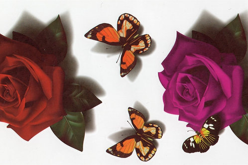 Rosen mit Blatt Schmetterlinge