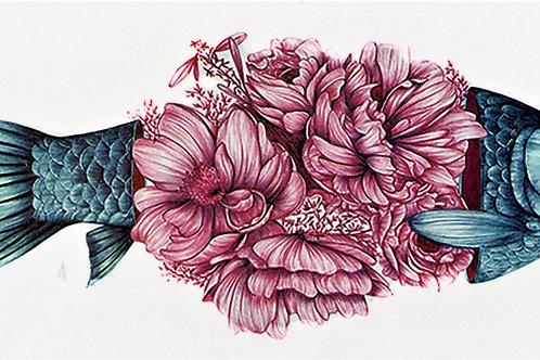 Fisch mit Blumen