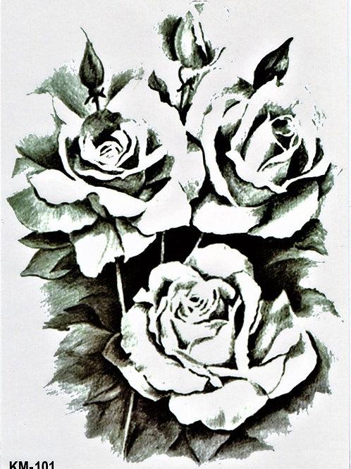 Rosestrauss black white