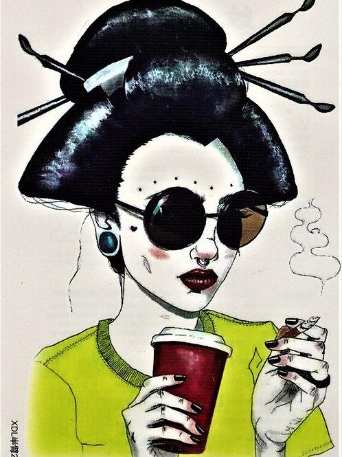 Chinagirl Kaffee Zigarette