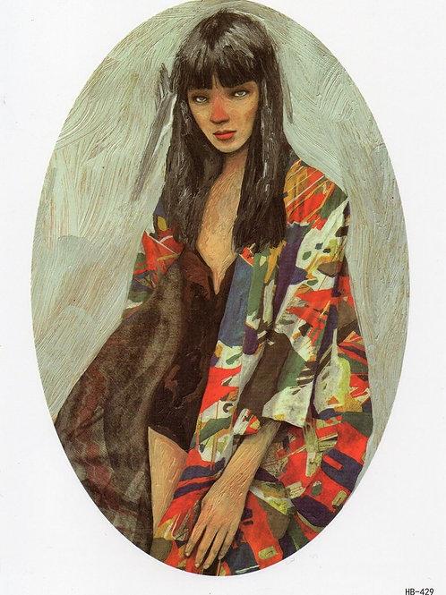 Mädchen Gemälde Vintage gemalt