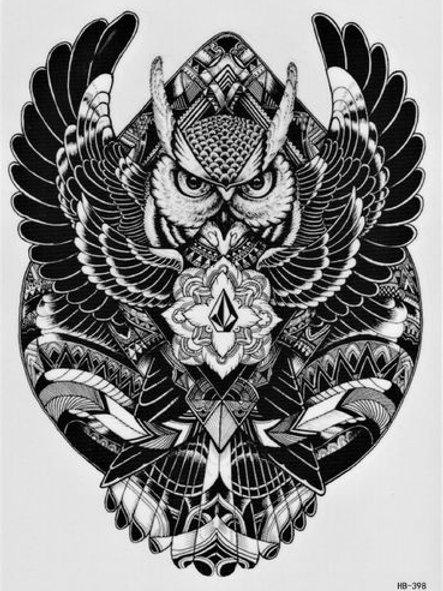 Eule Mosaik Flügel