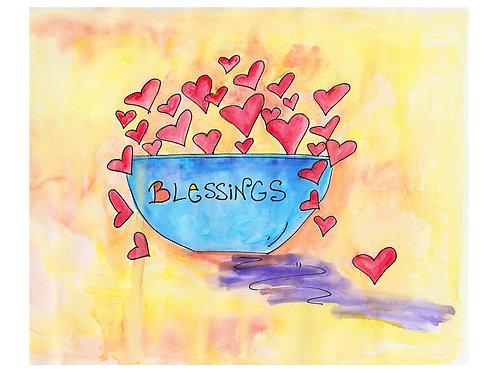 """Blessings"" Inspirational print"