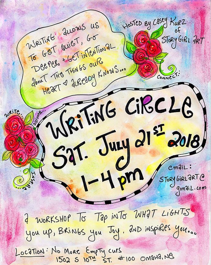 Free Writing Circle this Saturday