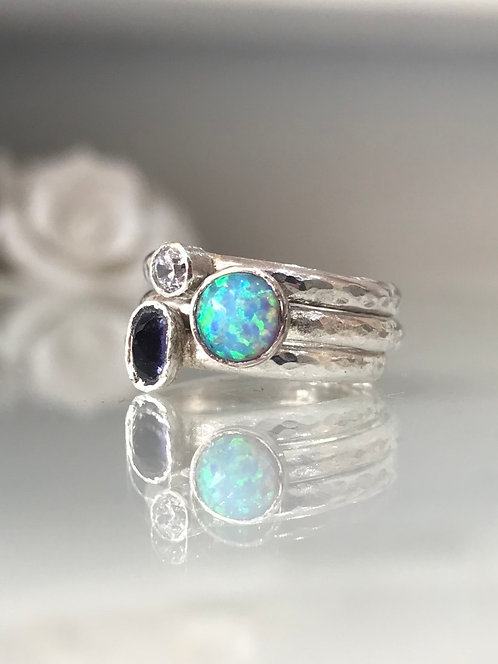 Gemstone Rings Set