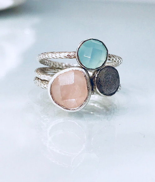 Gemstone Rings Set