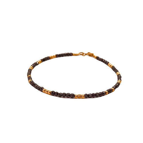 Skinny Hematite Rose Gold Friendship Bracelet
