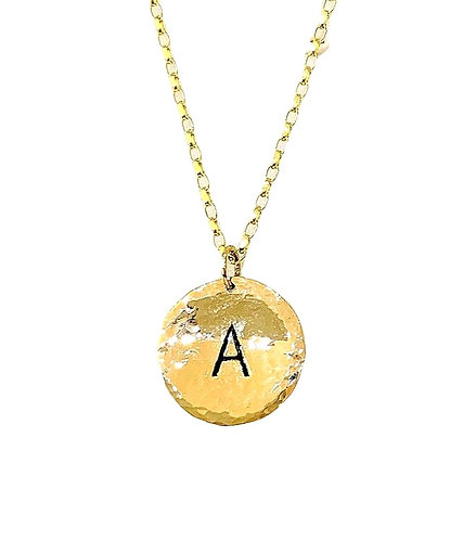 Textured Solid Gold Pendant