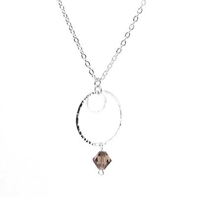 Infinity Black Crystal Necklace