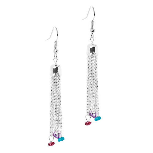 Gems Tassel Earrings