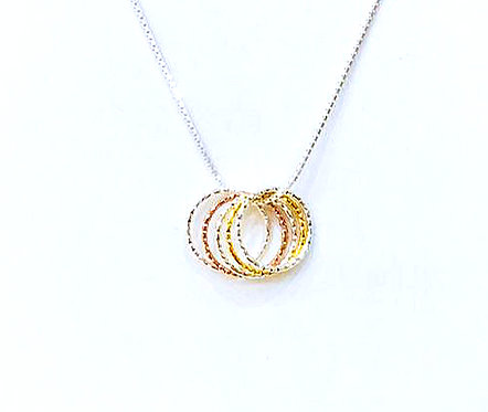Three Colours Eternity Necklace